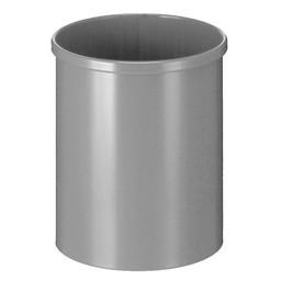 Vepabins Ronde Metalen Papierbak, 15L (Aluminium)