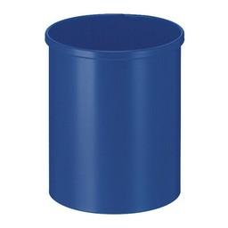 Vepabins Ronde Metalen Papierbak Blauw (15ltr)