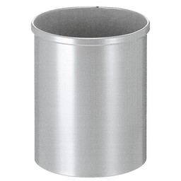 Vepabins Ronde Metalen Papierbak Grijs (15ltr)