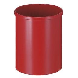 Vepabins Ronde Metalen Papierbak Rood (15ltr)