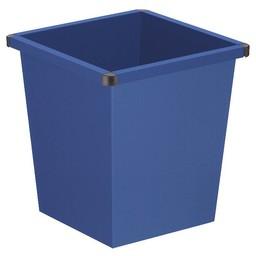 Vepabins Vierkant Tapse Metalen Papierbak (27ltr) Blauw