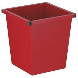 Vepabins Vierkant Tapse Metalen Papierbak (27ltr) Rood