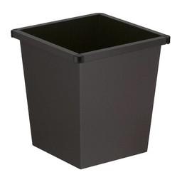 Vepabins Vierkant Tapse Metalen Papierbak (27ltr) Zwart