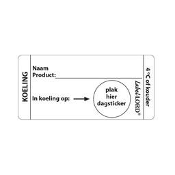 "Labellord Labellord - Codeer-etiketten met ""Koeling 4°c"""