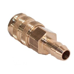 Brite-in Messing Rectus Snelkoppeling V, met 6mm Slangpilaar