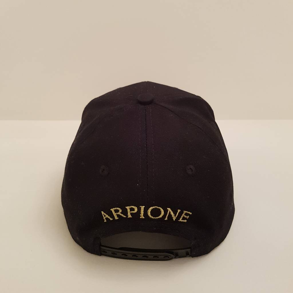 Arpione 100% Cotton Black Arpione Cap
