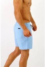 Arpione White Tip Mid-length Swim Short - Light Sky Blue