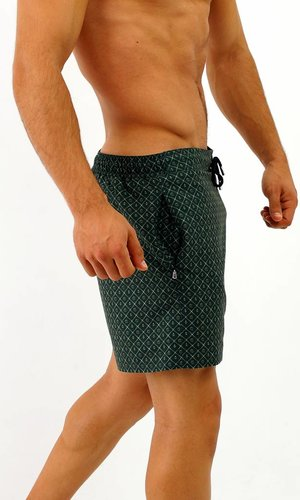 Arpione White Tip Swim short - Racing Green