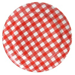 At Home with Marieke Plate Livia Red 24cm