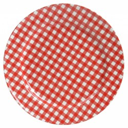 At Home with Marieke Plate Sarah Red 17cm
