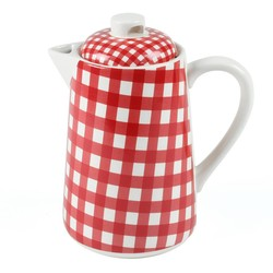 At Home with Marieke Teapot Livia Red 1500ml