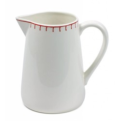 At Home with Marieke Jug Stitch Red 1500ml