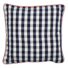 At Home with Marieke Cushion 50x50cm, blue gingham / natural stripe