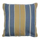 At Home with Marieke Cushion cover 50x50cm, blue khaki stripe