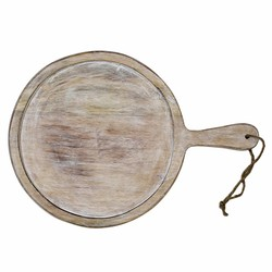 At Home with Marieke Small Serving Tray With Handle 23 cm Whitewash