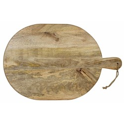 At Home with Marieke Wooden Serving Tray With Handle 46 / 38cm Natural