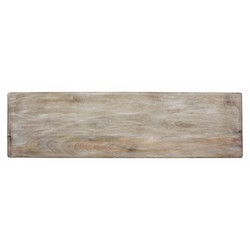 At Home with Marieke Wooden Serving Tray XL Whitewash 88x30cm