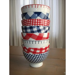 At Home with Marieke Bowl set Red + Blue 14.5cm