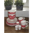 At Home with Marieke Lunch/Diner Set Red