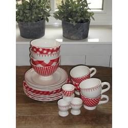 At Home with Marieke Lunch/Diner Voordeel Set Rood