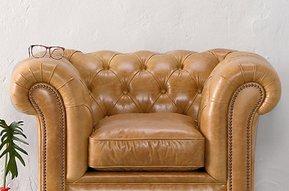 Lederen fauteuil Oxford