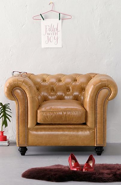 Spectrum Lederen fauteuil Oxford