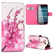 Roze Bloesem Bookcase Hoesje Acer Liquid Jade Z
