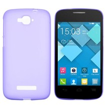 Paars TPU hoesje Alcatel One Touch Pop C7