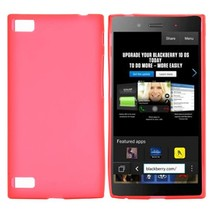 Rood siliconen hoesje Blackberry Z3