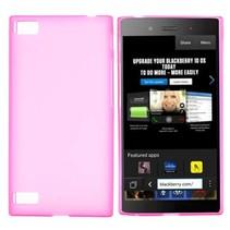 Roze siliconen hoesje Blackberry Z3