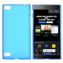 Blauw siliconen hoesje Blackberry Z3