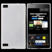 Wit siliconen hoesje Blackberry Z3