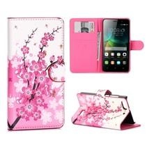 Roze Bloesem Bookcase Hoesje Honor 4C
