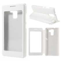 Wit Venster Bookcase Hoesje Honor 7