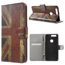 Britse Vlag Bookcase Hoesje Honor 8