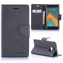Diary Zwart Bookcase Hoesje HTC 10