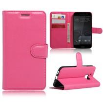 Roze Litchi Bookcase Hoesje HTC 10