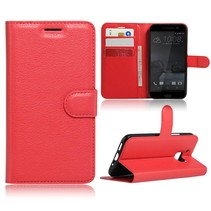 Rood Litchi Bookcase Hoesje HTC 10