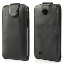 Zwart Flip Case hoesje HTC Desire 300