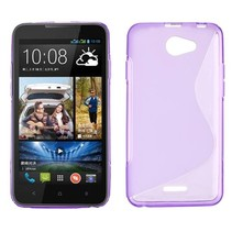 Paars S-design TPU hoesje HTC Desire 516