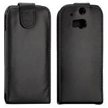 Zwart Flip Case hoesje HTC One M8 / M8s