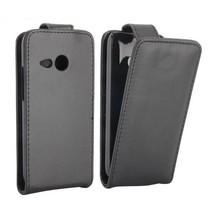 Zwart Flip Case hoesje HTC One Mini 2