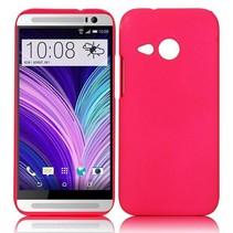 Donkerroze hardcase hoesje HTC One Mini 2