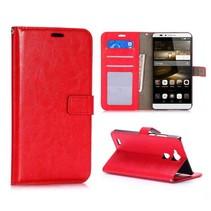 Rood zakelijk Bookcase hoesje Huawei Mate 7