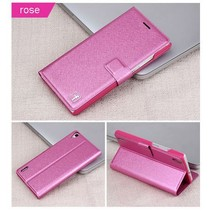 Silk roze Bookcase hoes Huawei Ascend P7