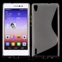 Transparant S-design TPU hoesje Huawei Ascend P7