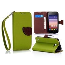 Groene leaf Bookcase hoes Huawei Y550