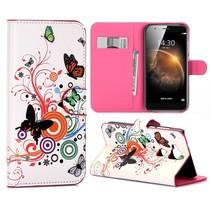 Vlinders Bookcase Hoesje Huawei G8