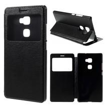 Zwart Venster Bookcase Hoesje Huawei Mate S