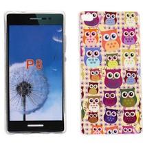 Kleurrijke uiltjes TPU hoesje Huawei P8